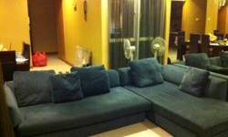 Big L Shape comfortable Fabric Sofa for sale