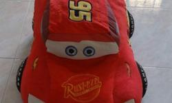 "Big Lightning McQueen Plush Toy 28"" length Preloved and"