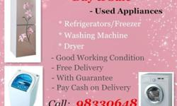 Big offer for Used Fridge, Washer, Dryer & Aircon,