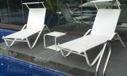 emu sun Loungers with hood and a stool
