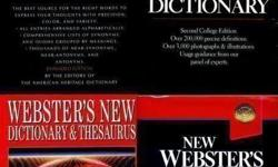 BIG SIZED Roget's Webster's DICTIONARIES and THESAURUS