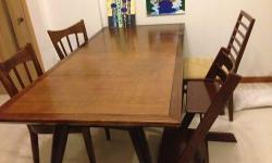 Dimension:190x90cm Excellent Condition ! One chair is