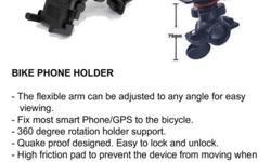 BIKE PHONE HOLDER - The flexible arm can be adjusted to