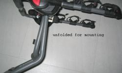Bike rack mount on car to hold 3 bicycles brand/model: