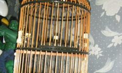 Bird Cage with bone and ivory accessories.Interested to