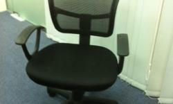 Urgent sale! Black chair, can match any colour table,
