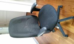 Black color office chair, in perfect working condition.