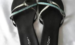 Ladies Black Sandals. Size 5 or about 36. Usual wear