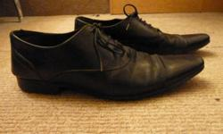 Selling this black leather Zara men size 42 shoes for