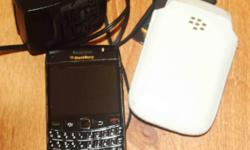 Blackberry + 2 battery + charger + cover