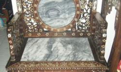 Authentic rare find Malacca Peranakan,Blackwood chair