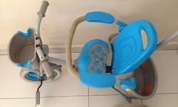Baby blue tri cycle in good condition for sale for $20