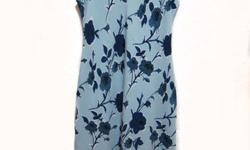 Like New. Double spaghetti strap floral dress. Embossed