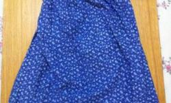 Pretty Blue Floral Tube Dress at $9 only! Like new :)