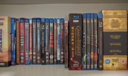 Selling BluRays and DVDs all in excellent condition.