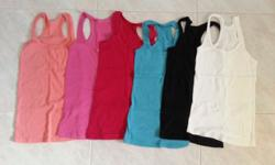 BN 5 pc Racer Tank Tops 6 for $12 in bundled price