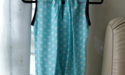 BN Blue Sleeveless Blouse With White Polka Dots