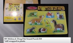 BN Melissa & Doug Pets Sound Puzzle $18 *still wrapped