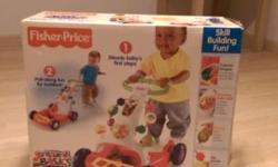 BNIB Fisher-Price walker-to-Wagon for sale at $25. Open