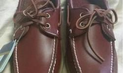 Brand new in box High quality leather boat shoes Brown