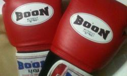 Brand new boon boxing gloves . Red . Brand new Selling