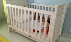 Beige Boori Newport Cot with under drawer for sale
