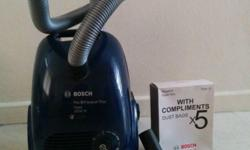 Bosch vacuum cleaner with one free clean bag from