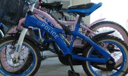 Beautiful, blue police bicycle, in very good condition.