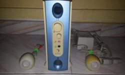 Hi there , I m selling off my great 2.1 Speaker made by