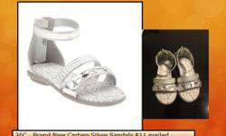 26C   Brand New Carters Silver Sandals $11 mailed