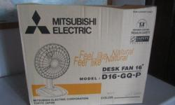 This is a brand new desk fan. Box still sealed. I got