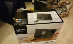Brand New In Box Sony ICF-DS15iP Radio Clock for sale.