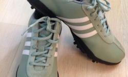 Brand New Ladies Adidas Golf Shoe (Green) Size: US8