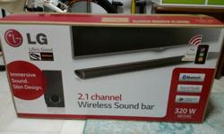 Brand new unopen LG sound bar. 1 yr Warranty starts on