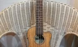 Brand new Makana UKC-2370CE Spalted Maple Concert