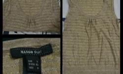 Brand New Mango Suit Gold Shimmer Overall Condition: