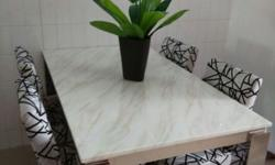 Brand new table Top: Marble Frame: Stainless Steel