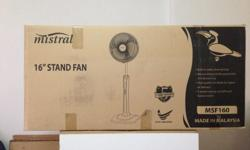"Brand New Mistral 16"" Standing Fan Selling Price :"