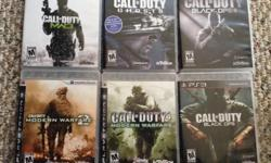 lot of 6 call of duty games. Games included are: Call