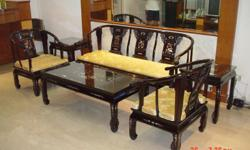 Brand New Royal Palace Design Rosewood Sofa set for