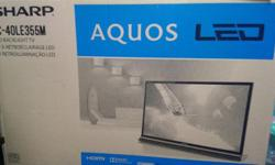 Brand new still in box, Sharp LED 40 inch TV with 3