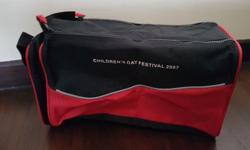Brand New*** Shoe Bag Red Black - Double zip for wide
