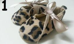 Brand new shoes for 1 year old or below! 1: Leopard