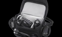 The black LCS-U21 Soft Carrying Case from Sony is a