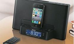Hi, I have brand new SONY Speaker Dock Clock Radio for
