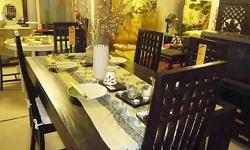 Teak Dining Table & Chairs Furniture Singapore Low