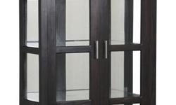 BRAND NEW teak glass display cabinet, teak glass