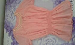 "Brand New Free size Peach Top & ""M"" Size Purple White"