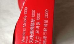 BRAND NEW Microsoft wireless mobile mouse 1000 RED
