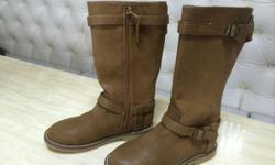 Brand new zara leather boots for 4-6 years old girls